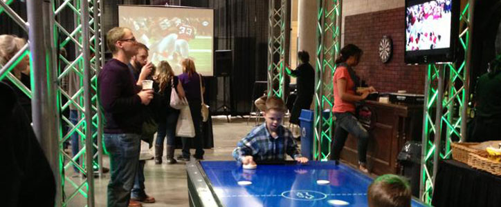 At the Bridal Festival: Football, Beer, Food, & Fun in the Man Cave