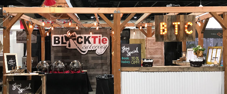 At the Bridal Festival: Black Tie Catering