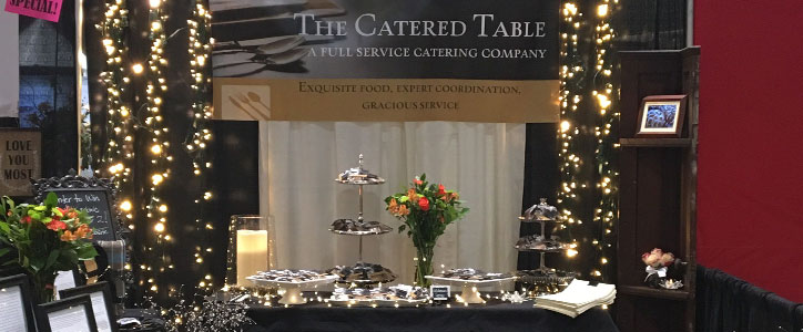 At the Bridal Festival: The Catered Table